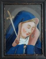 Achterglasschildering 'Maria'