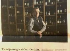 De Tijd met reportage over wijn in coronatijden