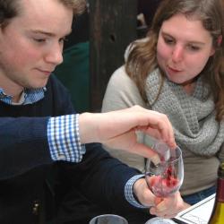 Zelf je wijn blenden... plezierig!